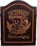 Innergames Kings Head Dart kabinet - black gold